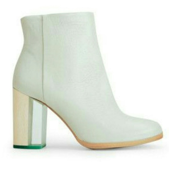 e09a1479def Miista Ali heeled leather ankle boot in mint.